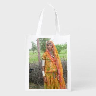 Jodhpur Girl Reusable Grocery Bag