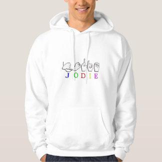 JODIE  NAME SIGN ASL FINGERSPELLED HOODIE