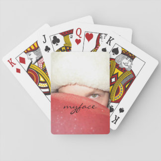 Jody with red balloon myface playing cards