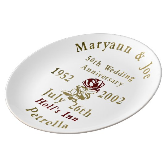 Joe and Maryann Porcelain Plates
