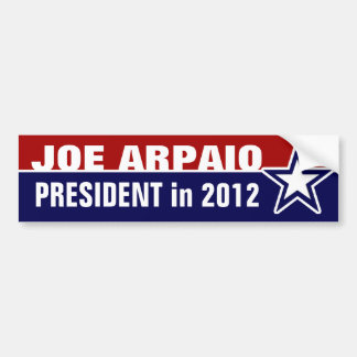 Joe Arpaio in 2012 Bumper Sticker