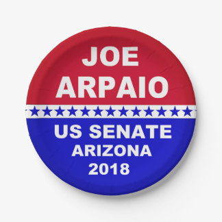 Joe Arpaio US Senate 2018 Arizona paper plates