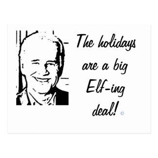 Joe Biden Big Elf-ing Deal Postcard