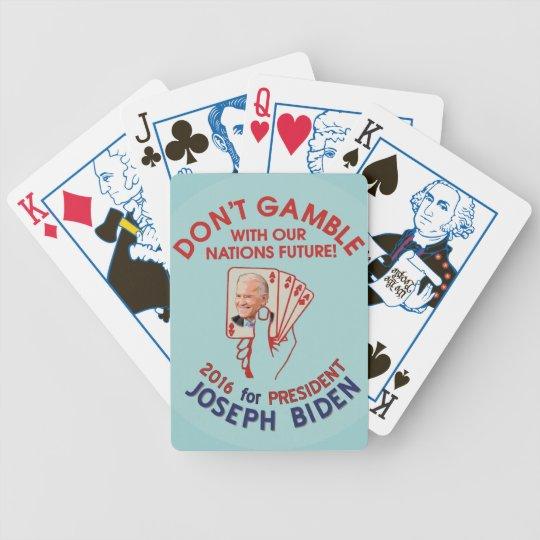 Joe Biden for President in 2016 Poker Deck