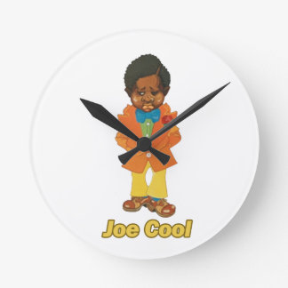Joe Cool Round Clock