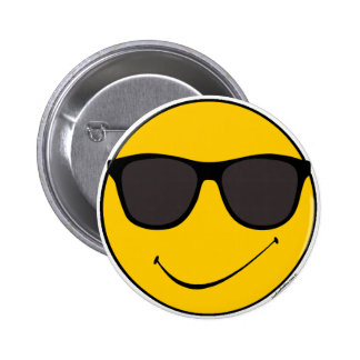 Joe Cool Smiley 2 Inch Round Button