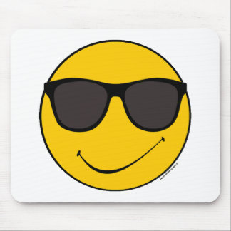 Joe Cool Smiley Mouse Pad