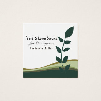 Joe Handyman Lawn Yard Professional Services Square Business Card