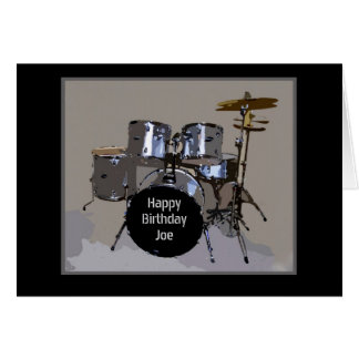 Joe Happy Birthday Drums Card