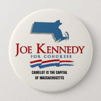 Joe Kennedy, III Camelot Restored 4 Inch Round Button