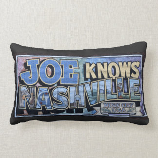 Joe Knows Nashville, Tennessee Wall Mural Lumbar Pillow