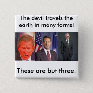 joe riley, SATAN, The devil travel... - Customized 2 Inch Square Button