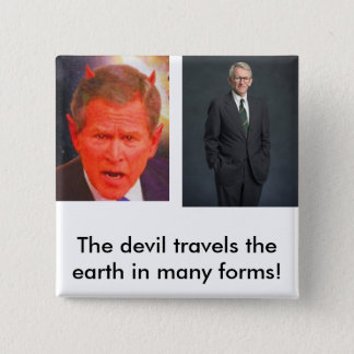 joe riley, SATAN, The devil travel... - Customized 2 Inch Square Button