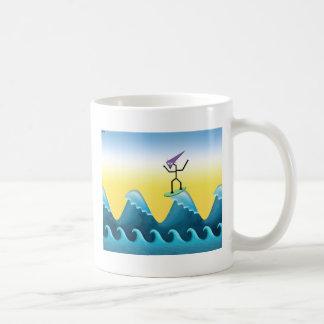 Joe Surfer Basic White Mug