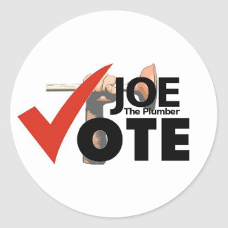 Joe The Plumber 2008 Sticker