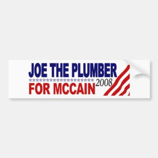 Joe the Plumber for McCain Bumper Sticker