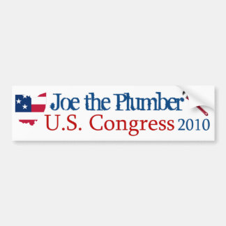 Joe the Plumber for US Congress 2010 - Bumper Stic Bumper Sticker