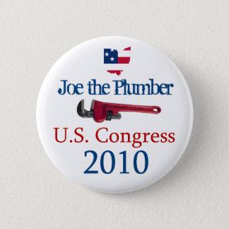 Joe the Plumber  US Congress 2010 - Button