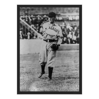 Joe Tinker Cubs Baseball 1907 Poster