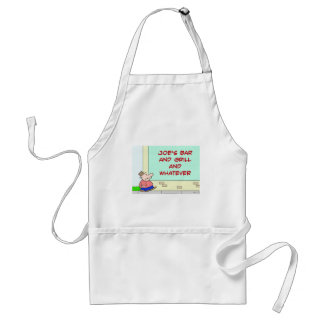 joes bar and grill and whatever standard apron