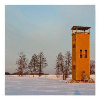 Jõesuu watchtower Lake Võrtsjärv Estonia Perfect Poster