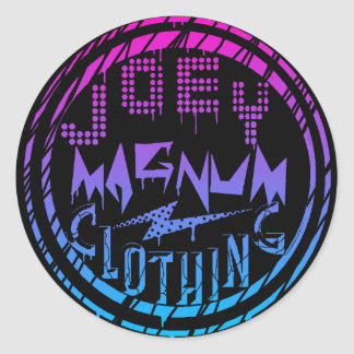 Joey Magnum Clothing Classic Round Sticker