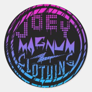 Joey Magnum Clothing Round Sticker