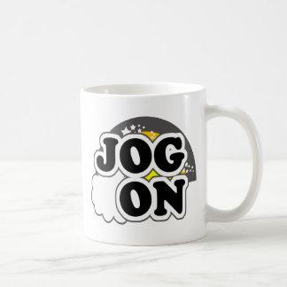 Jog On Basic White Mug