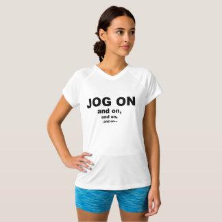 Jog On V-Neck Sports T-Shirt