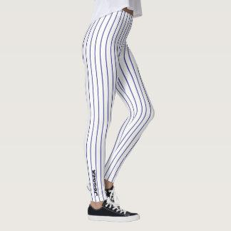 Jogger Leggings - Black pinstripe