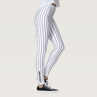 Jogger Leggings -Blue pinstripe