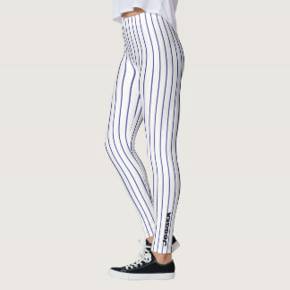 Jogger Leggings - blue pinstripe
