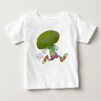 Jogging Broccoli, on a kids t-shirt. Baby T-Shirt