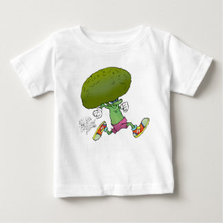 Jogging Broccoli, on a kids t-shirt. Tshirts