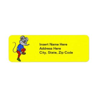 Jogging Mouse Return Address Label