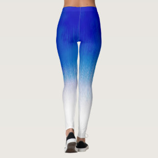 Jogging Royal Blue Ice Rain Design Leggings