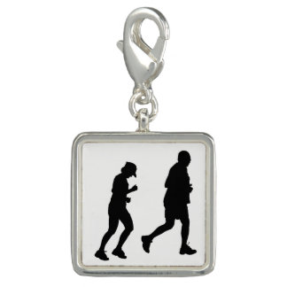 Jogging Silhouette Charm