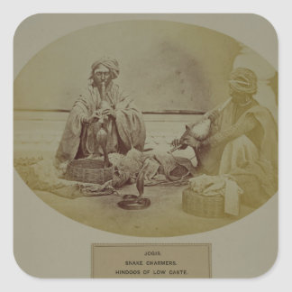 Jogis or Snake Charmers, Low Caste Hindus from Del Square Sticker