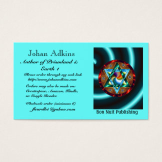 Johan Adkins Author of Prismland & Earth 1 Business Card