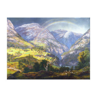 Johan Christian Claussen Dahl View from Stalheim Canvas Print