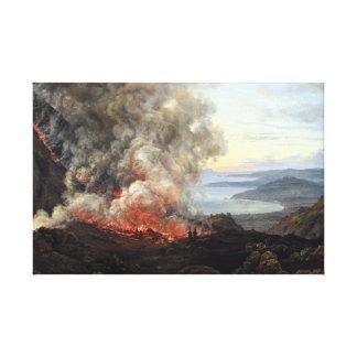 Johan Christian Dahl Eruption of Volcano Vesuvius Canvas Print