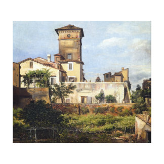 Johan Christian Dahl Scene from the Villa Malta Canvas Print