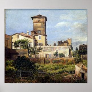 Johan Christian Dahl Scene from the Villa Malta Poster