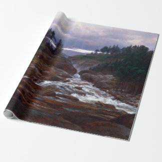 Johan Christian Dahl The Lower Falls of Labrofoss Wrapping Paper