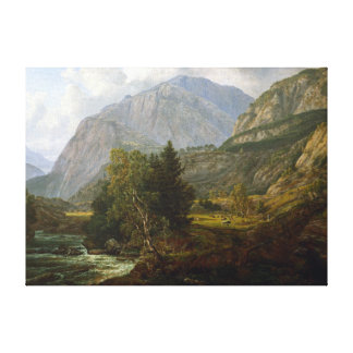 Johan Christian Dahl View of Fortundalen Canvas Print