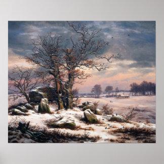 Johan Christian Dahl Winter Landscape Vordingborg Poster