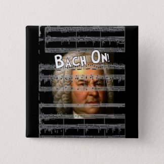 Johann Bach Gifts 2 Inch Square Button