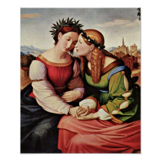 Johann Friedrich Overbeck - Italia and Germania Poster