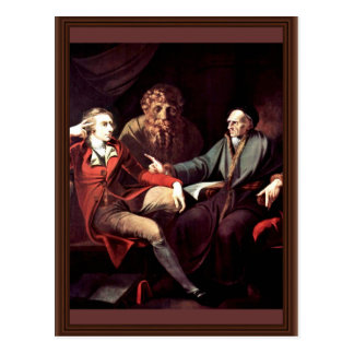 Johann Heinrich Fuseli Talking To The Zurich Histo Postcard