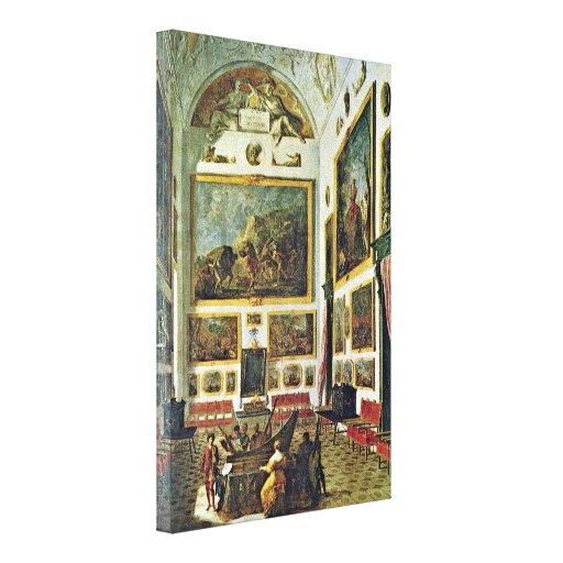Johann Heinrich Schonfeld - Musical entertainment Gallery Wrapped Canvas